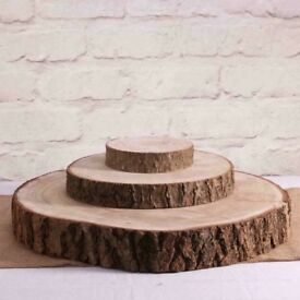 Wedding wooden log slice