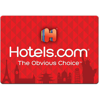 $50 / $100 Hotels.com Physical Gift Card - FREE 1st Class Mail Delivery