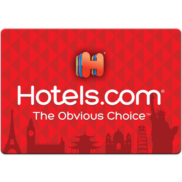 Изображение товара $50 / $100 Hotels.com Physical Gift Card - FREE 1st Class Mail Delivery