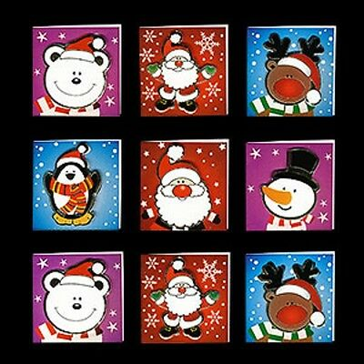 Christmas POP OUT cards GIFT TAGS - SET OF 9 Reindeer Snowman 5.5cm x 5.5cm](Halloween Pop Out Card)