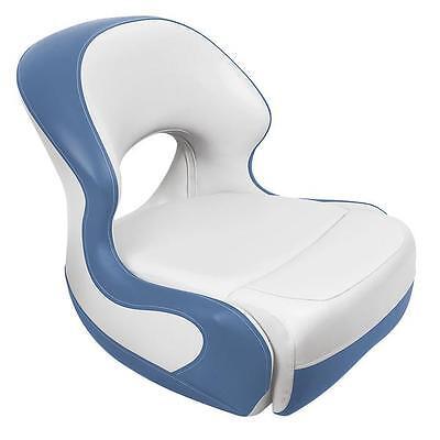 Pontoon Bucket Seat (White and Light Blue) Pontoon Bucket Seat
