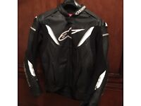 Alpinestars GP R Perforated Leather Jacket Black/White 2015