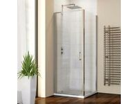 Hydrolux 800mm x 800mm Pivot Shower Enclosure with Side Panel