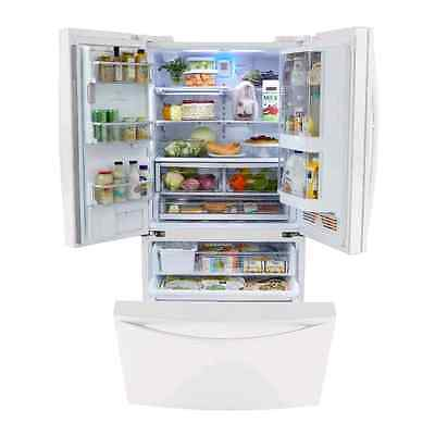 Sears Elite 29ft.  White Refrigerator,  with ice maker& french doors