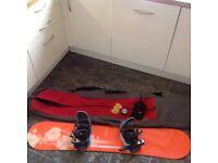 Ladies snowboard, bag, bindings and boots