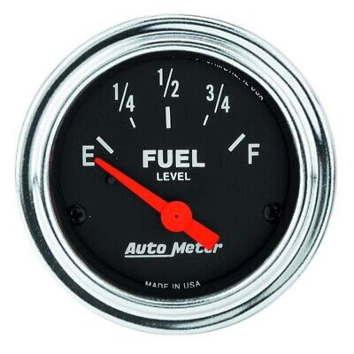 Auto Meter 2517 Traditional Chrome Electric Fuel Level Gauge
