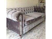 New Velvet sofa / Chesterfield