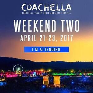 2017 Coachella Weekend 2 - 1x VIP with 1x Anytime Shuttle Passes Sydney City Inner Sydney Preview
