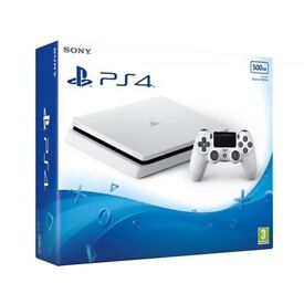 White ps4 with Fifa 18
