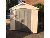 Plastic shed nearly new