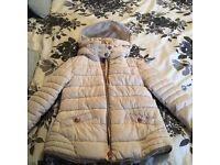 Next girls padded coat aged 7-8