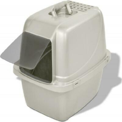 Cat Litter Box Large Enclosed Covered Kitty House Clean Pad Hooded Traps Odor - $37.35