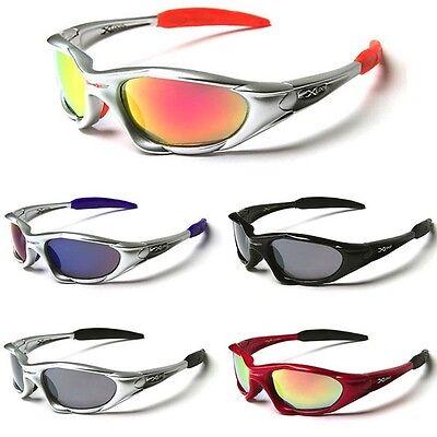 X-Loop Wrap Around Baseball Cycling Ski Running Biker Super Sport Men Sunglasses](Blue Sunglasses)