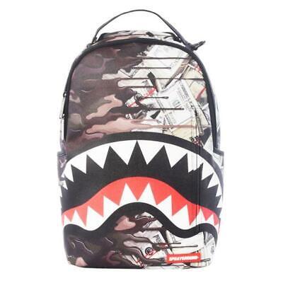 Brand New SPRAYGROUND Psycho Shark Camo Money Deluxe Bag
