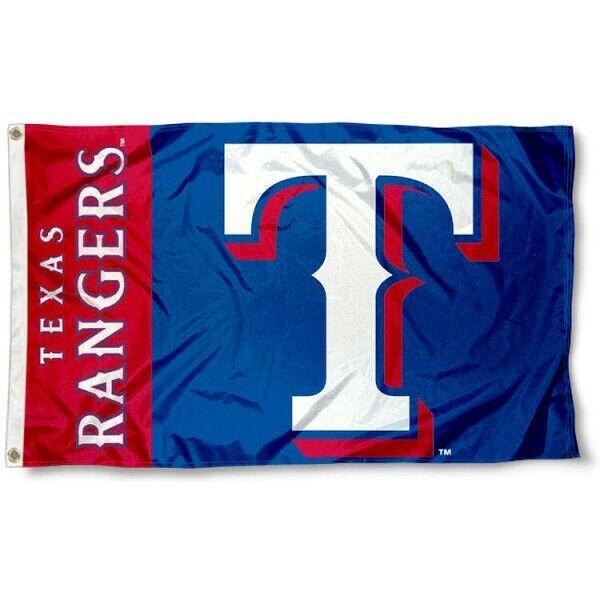 Texas Rangers 3x5 ft Flag MLB New Man Cave Tailgate Garage