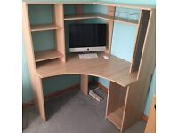 Corner desk, for Study, home office, home work station