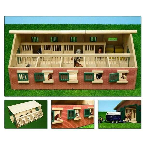 Pferdestall 9 Pferdeboxen 62x42 für den Holz Bauernhof Kinder Spiel Kids Globe