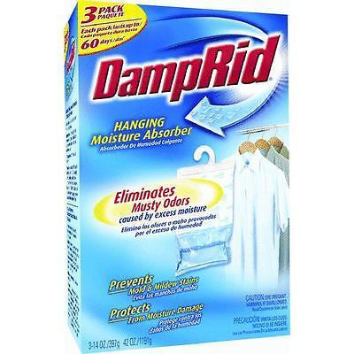 - Hanging Closet Damp Rid Excess Moisture Absorber Air Dehumidfier 3pk FG83K