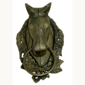 Knocker de porte en fonte de cheval/Horse Cast Iron Door Knocker