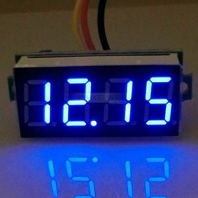 Dc 0-33v Blue 0.36 Led 4 Digit Digital Voltmeter Voltage Panel Meter