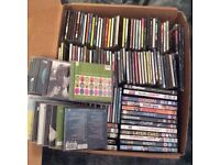 Box of CDs & dvds