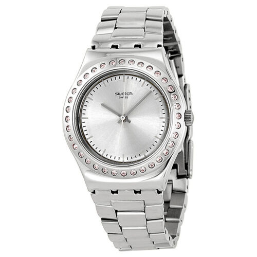Swatch Irony Pure Powder Stainless Steel Ladies Watch YLS172G