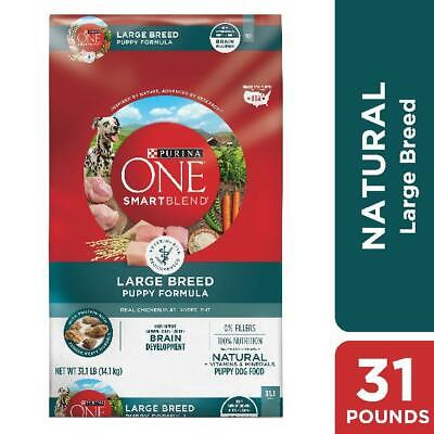 Purina ONE Natural Large Breed Dry Puppy Food, SmartBlend Puppy Formula, 31.1 lb
