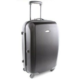 Attractive, light-weight, large hard-shell Samsonite Spinner suitcase, 4 smooth gliding wheels