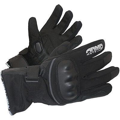 Armr Motorrad WP535 Waterproof Thermal Winter Textile Motorcycle Glove Black - T