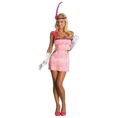 Pink Flapper 1920s Charleston Chicago Gatsby Fancy Dress Costume Outfit  UK - 1920 Female Gangster