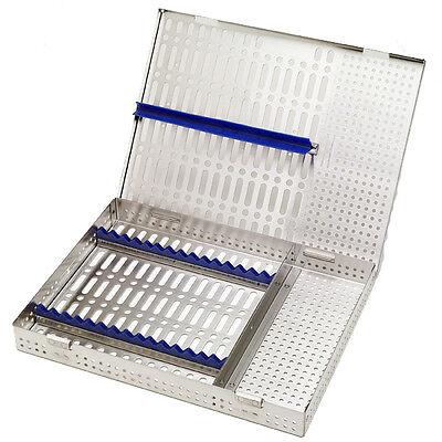 Dental Instrument Cassette - Holds 16 Instruments Blue