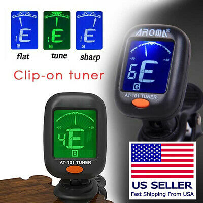 Aroma AT-101 Guitar, Bass, Violin, and Ukulele Chromatic Clip On Tuner