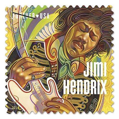 2014 49C JIMI HENDRIX, MUSICIAN, ELECTRIC GUITAR SCOTT 4880 MINT F/VF NH