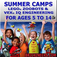 Summer Camp: Lego Zoobots & Space Camp. Ages: 6-12. U of C