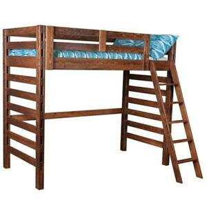 "Used Twin Loft bed - ""Arctic"" by Scanica - Unfinished* wood"