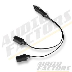 12V DC Car Twin Double Cigarette Lighter Socket Extension Lead Adaptor Splitter