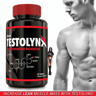 TESTOLYNX  #1 Testosterone Booster, Stronger than NUGENIX,  Build Lean Muscle