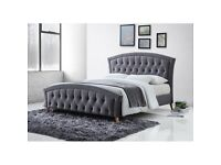 Brand New Double fabric bed with mattress