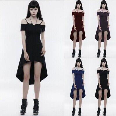 Women Gothic Cosplay Custome Halloween Dress Off Shoulder Cocktail Long Dresses - Women Halloween Customes