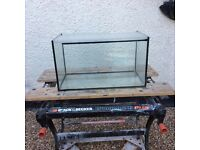 All glass aquarium vivarium fish tank with lid