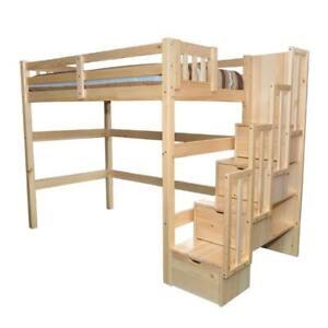 Encore Stairway Twin Loft Bed