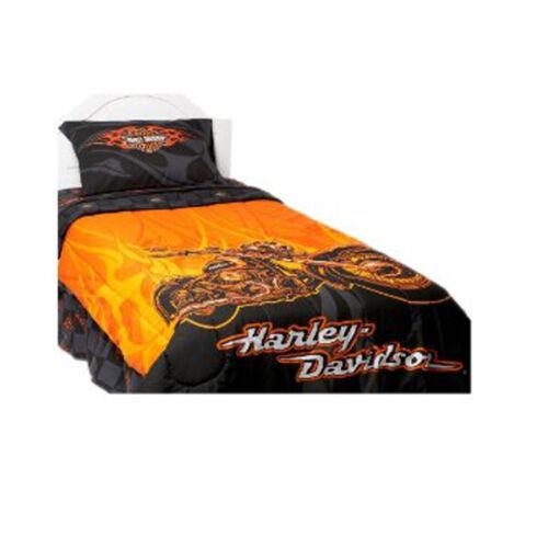 Harley Davidson Flames Comforter-Twin Size