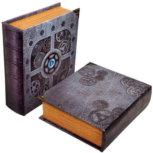 Grimoire Deck Box, Artificer | Large Wooden Spellbook Style