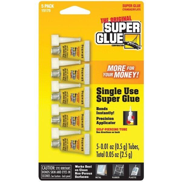 The Original SuperGlue 15175-12 Instant Adhesive Mini Tubes, 5 pk