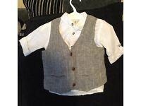 Next boys short and waistcoat 12-18 months