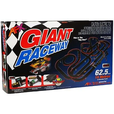 NEW AFX Giant Raceway 62.5' HO Slot Car Track Set Tri-Power Digital Lap Counter!