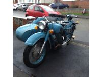 Ural Dnepr MT 9 , 650 cc with sidecar , nice antique project