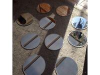 Mirrors wedding centre pieces