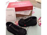Brand new black Kicker Boots size 9