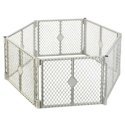 Large Baby Gate Play Yard Pen Crib Playpen Safety Gate Indoo